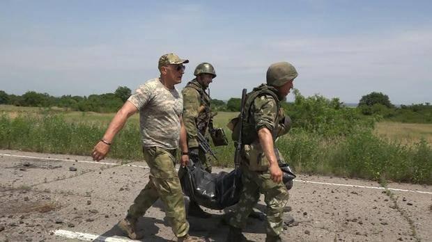 Народная милиция ЛНР эвакуировала тело бойца ВСУ, погибшего в районе Желобка