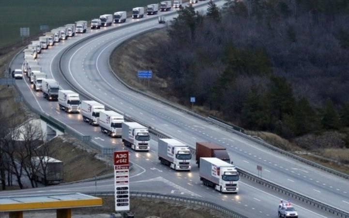 Очередная колонна с гуманитарным грузом направилась в Донбасс