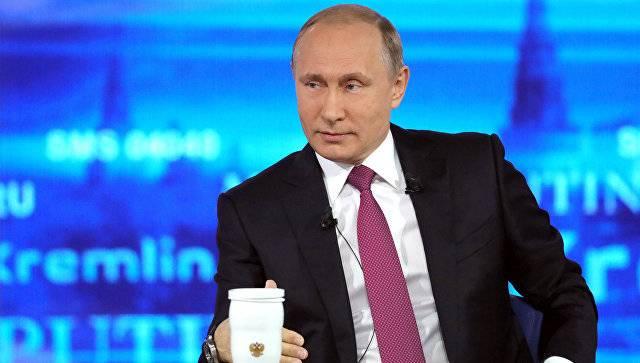 В.В. Путин о западных санкциях