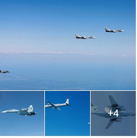 Российские Ту-160  сопровождали самолеты трех стран