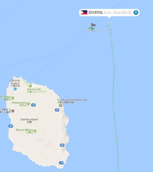 Столкновение контейнеровоза с американским эсминцем USS Fitzgerald