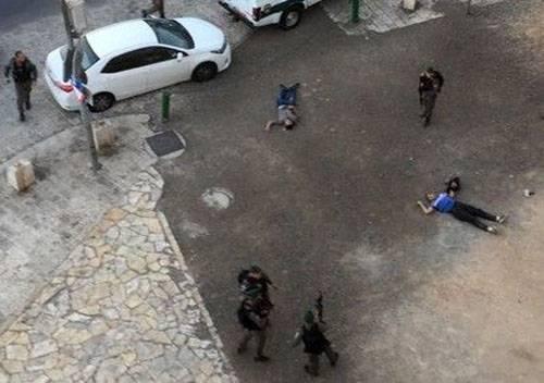 ВИерусалиме вооруженная группа напала сножами наполицейский патруль
