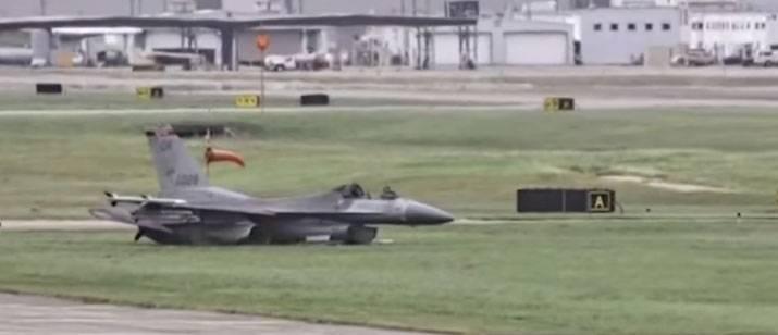Крушение F-16 в штате Техас (США)