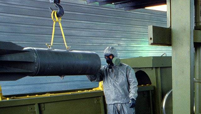 In Kizner, destroy the remaining 1% of chemical weapons of the Russian Federation