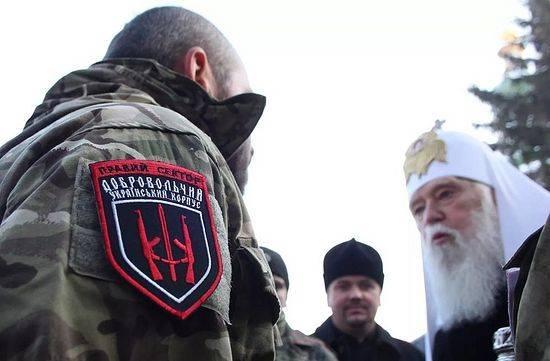 УПЦ КП использует правосеков для отбора храмов у украинской церкви Московского патриархата