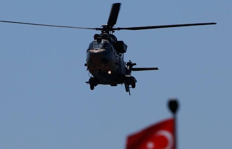 Потерпел крушение вертолет вооруженных сил Турции