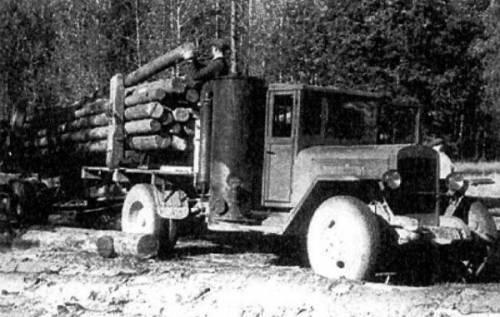 关于武器的故事。 燃气发电机车ZIS-21
