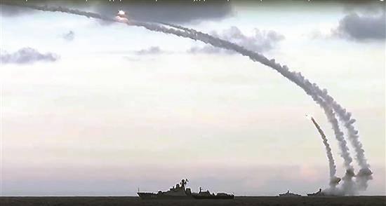 La armada rusa llevará a cabo disparos en el mar Mediterráneo