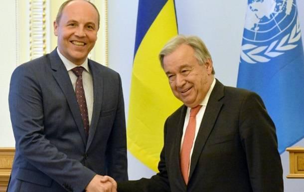 Парубий попросил генсека ООН лишить Россию права вето