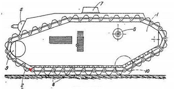 Проект бронированной машины разминирования Char de Déminage Renault (Франция)