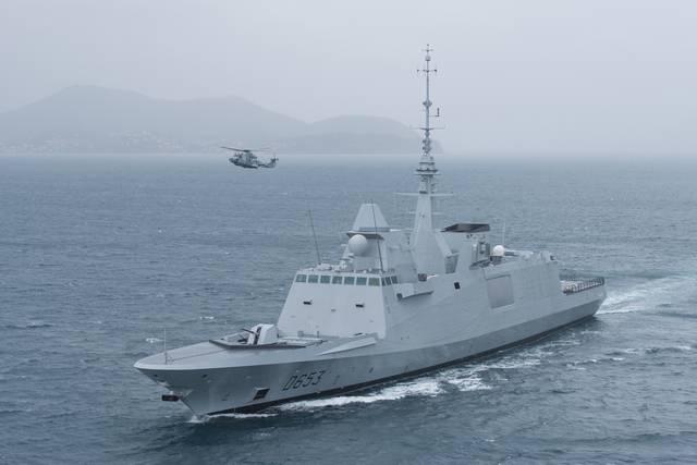 В боевой состав ВМС Франции вошел третий многоцелевой корабль Languedoc класса FREMM подтипа B2M