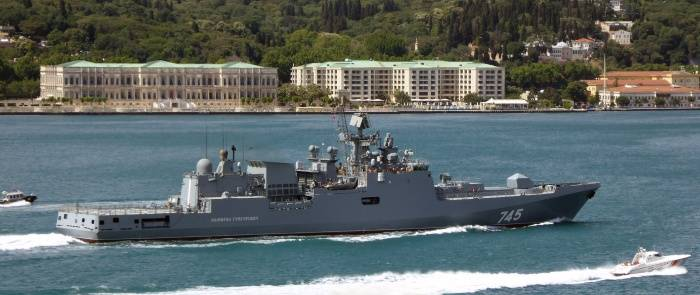 The frigate Admiral Grigorovich returned to Sevastopol from the Mediterranean Sea
