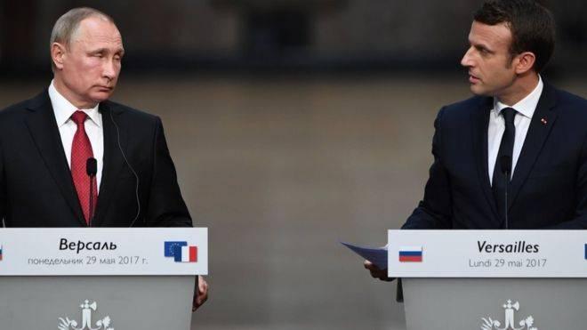 Макрон: переговоры с Путиным вывели сотрудничество сторон по Сирии на новый уровень