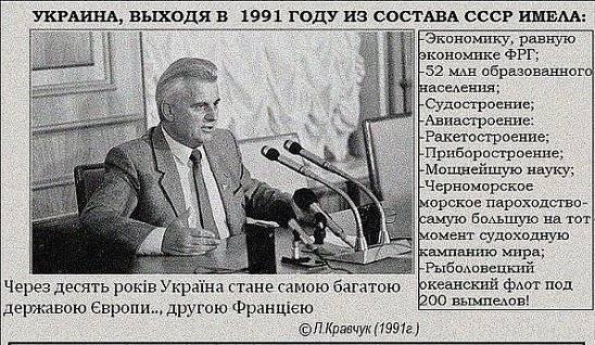 Кравчук сказал, почему Украина потеряла контроль над Донбассом