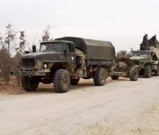 Тягачи Урал-43206 в Сирии