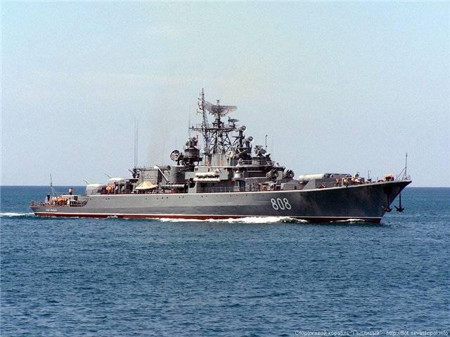 """Сторожевой корабль """"Пытливый"""" присоединился к группировке ВМФ в Средиземном море"""