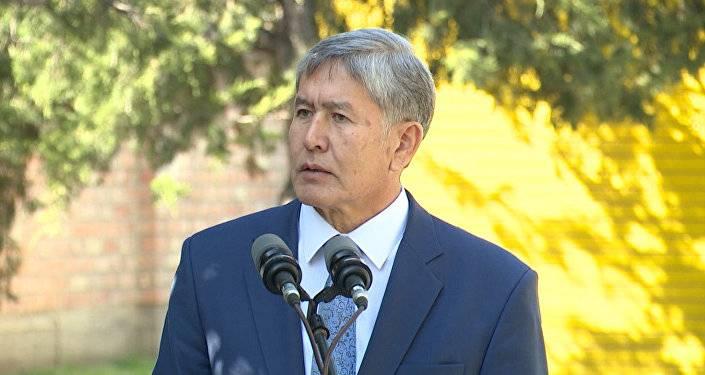 Атамбаев: Бишкек предупреждали о возможных ракетных ударах из-за военной базы США