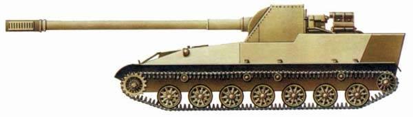 स्व-चालित तोपखाने की स्थापना SU-152P