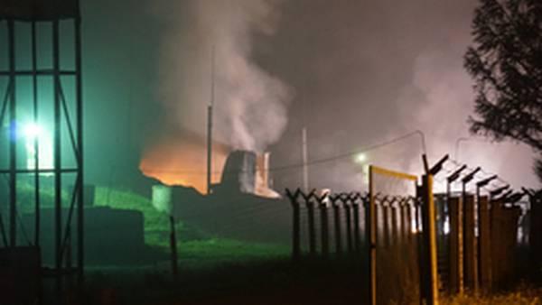 В Хабаровском крае загорелся склад с боеприпасами