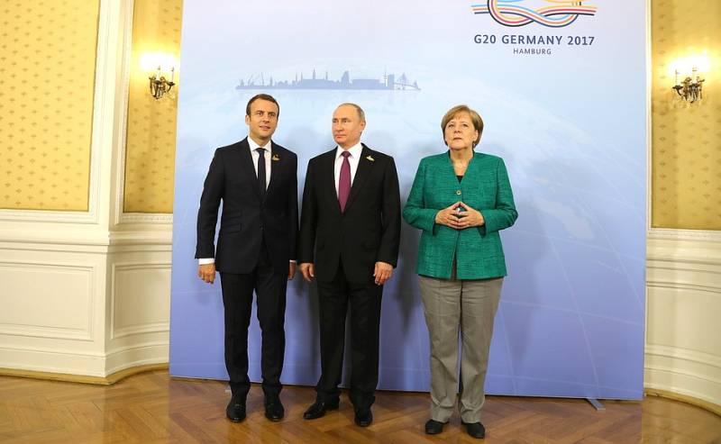Путин, Меркель и Макрон без Порошенко обсудили ситуацию на Украине