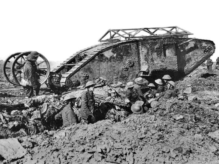 Борьба с танками в 1918 году