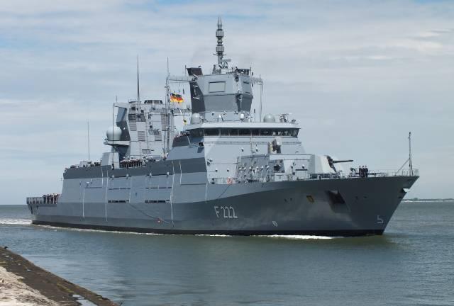Передача нового фрегата для ВМС ФРГ задерживается