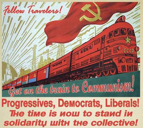 공산주의 열차 포스터