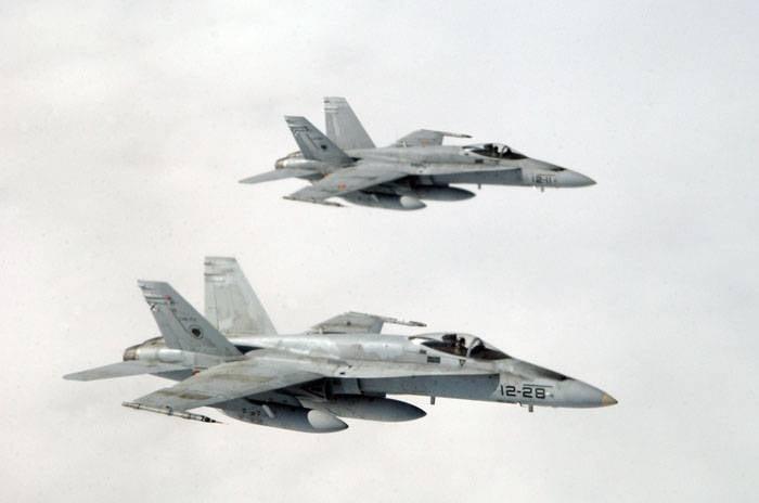 스페인계 F-18, 핀란드 영공을 침범 함.