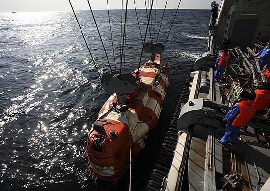 """태평양 함대에서는 """"비상""""잠수함 구조 작업이 완료되었습니다."""