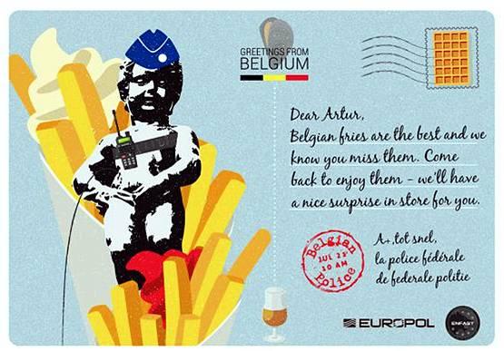 유럽 경찰, 엽서로 테러와의 전쟁