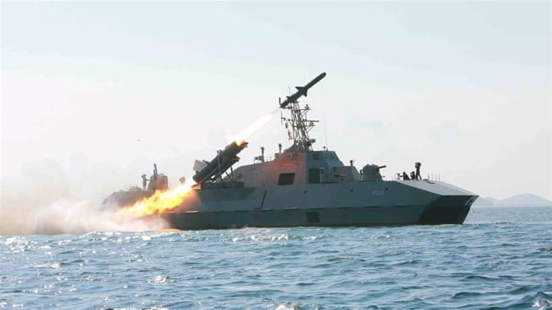 북한은 배 대공 미사일에 배치했다.