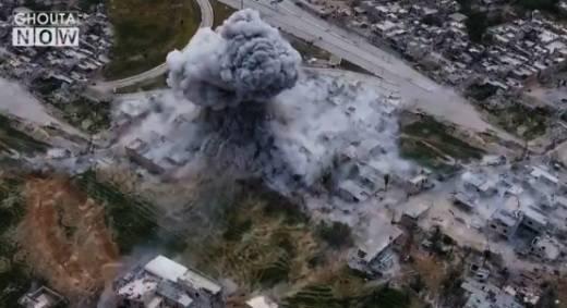 무장 세력에 대한 다마스쿠스 근처의 UR-77 사용