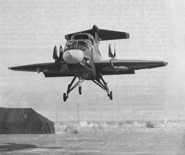 Deneysel uçak Ryan XV-5 Vertifan (ABD)