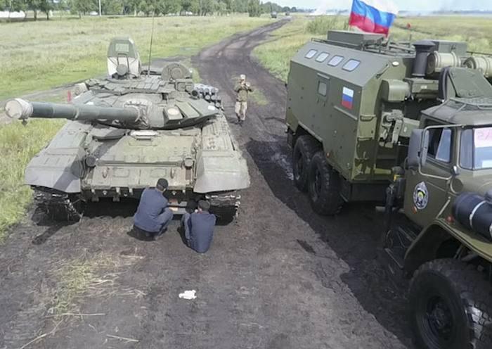 러시아 군부는 육군 경기 람 바트 대회