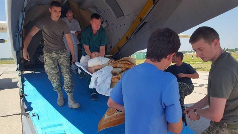 Очередной борт с ранеными украинскими солдатами прибыл в Одессу