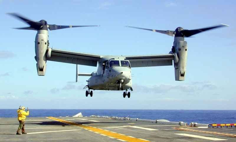ВЯпонии потребовали уамериканцев закончить полеты конвертопланов