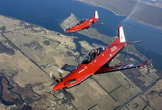 Força Aérea Australiana recebe o primeiro avião de treinamento PC-21