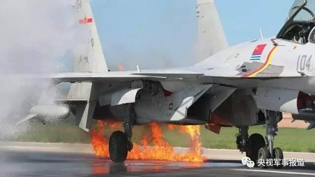 갑판 전투기의 사고 J-15 Navy PLA