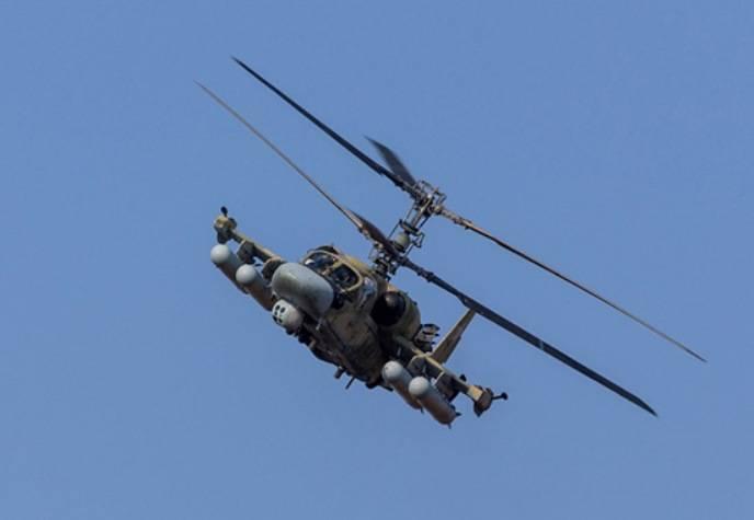 Ka-52 e Mi-8 AMTSH hanno colpito la base di un nemico condizionale in Primorye