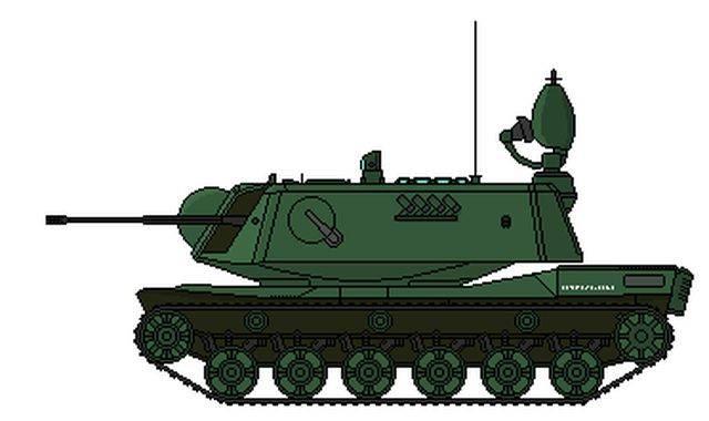 Экспериментальная зенитно-самоходная установка Matador (ФРГ)