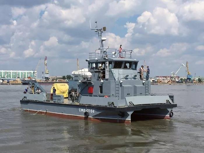 Спущен на воду первый катер проекта 23370 для ТОФ