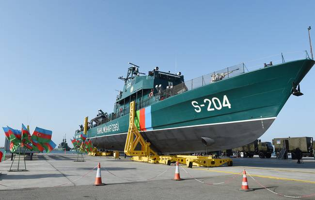 Azerbaijan launched the 4 border ship of the Israeli project OPV 62