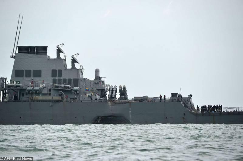 """Обнаружены тела всех пропавших моряков с эсминца """"Джон Маккейн"""""""