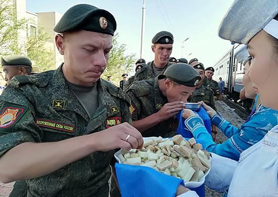 Российские подразделения прибыли в Монголию для участия в совместном учении