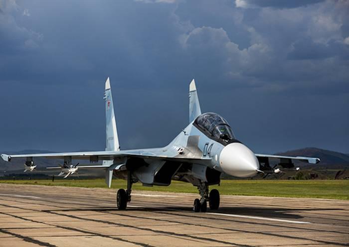 Три новых Су-30СМ вошли в состав морской авиации БФ