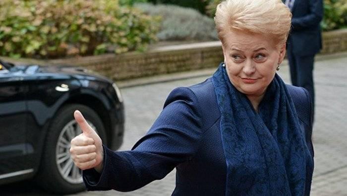 Grybauskaite: os Estados Unidos vão ajudar a UE a abandonar a Gazprom