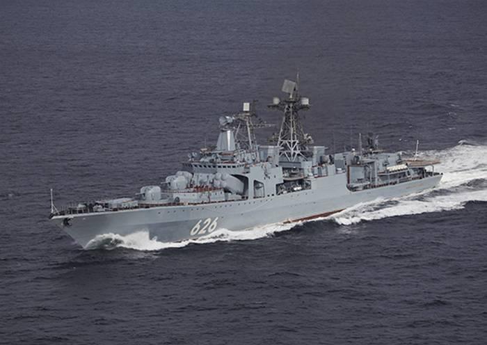 """BOD """"Vice-almirante Kulakov"""" começou a escoltar navios pelo Golfo de Aden"""