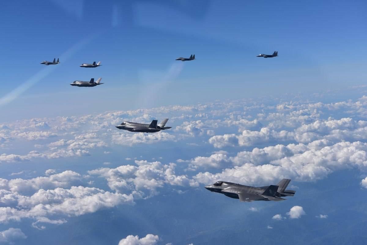 Exercício da Força Aérea dos EUA perto da fronteira norte-coreana