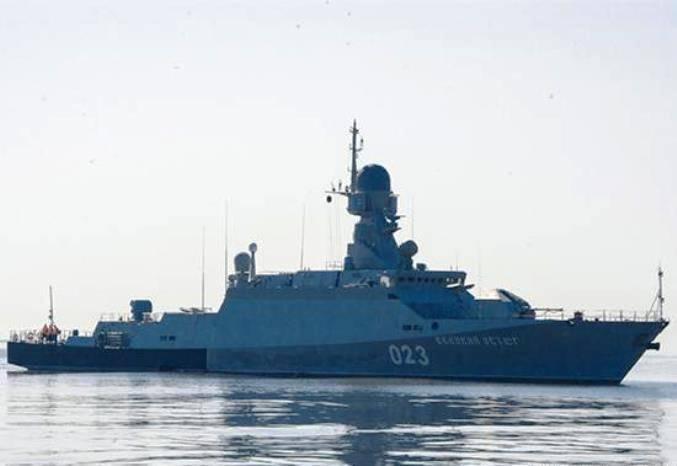 Отряд русских  военных кораблей посетит город Актау