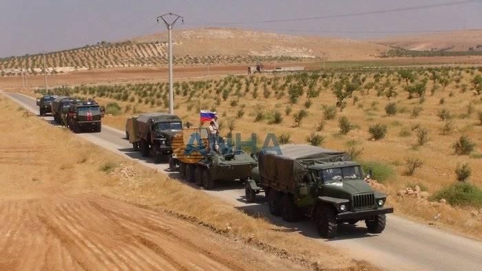 Колонна российской бронетехники вошла для защиты курдских районов Сирии